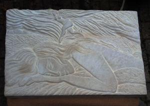 Portland stone 30 x 22 x 2.5 inches / 76 x 56 x 6 cm